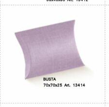 Publilancio srl 20X Scatolina portaconfetti MAIOLICHE Fondo Bianco 5.5x5.5x2.5 cm