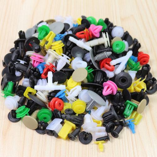 100pcs//set Universal Mixed Car Various Plastic Rivet Fastener Door Push Pin UWUK