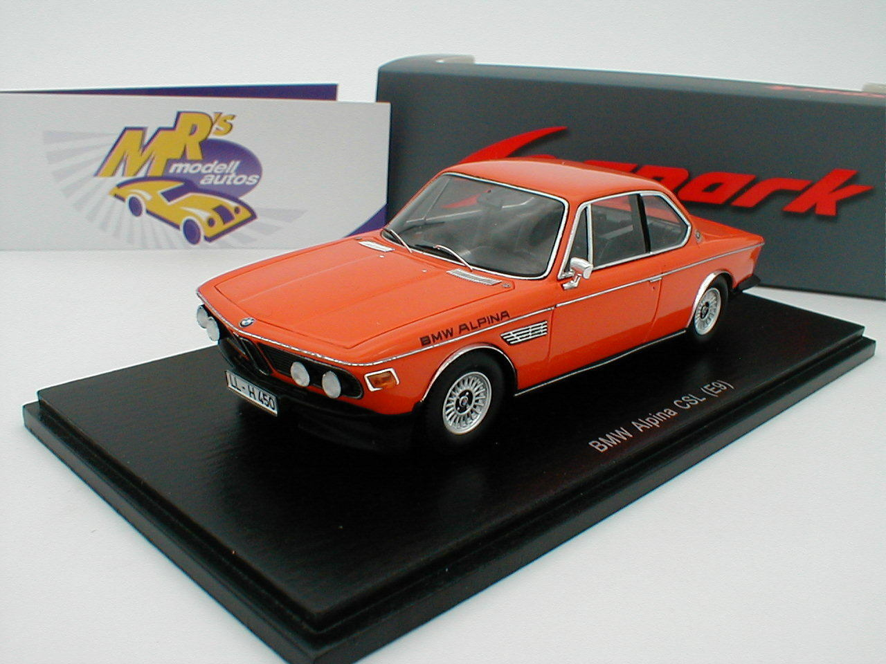 Spark s2811-BMW Alpina CSL (e9) en  arancia  1 43 novedad