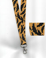 1 x SPOOKY BATS Halloween Breakaway Safety Neck Strap Lanyard: FREE UK P&P