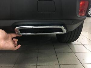 ABS-Auspuff-Schalldaempfer-Dekorative-Verkleidung-2-fuer-Peugeot-3008-2016-2018