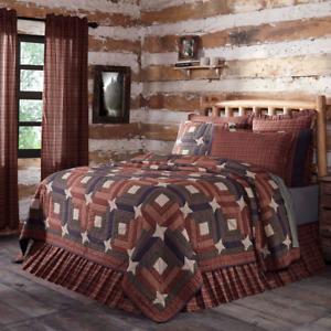 VHC Parker Quilt (you choose size & accessories)  Log Cabin Farmhouse Bedding