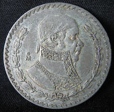 1957-1967 10% Silver Mexican Un Peso - BIG OLD MORELOS SILVER DOLLAR FROM MEXICO