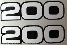 YAMAHA RD200 SIDE PANEL DECALS
