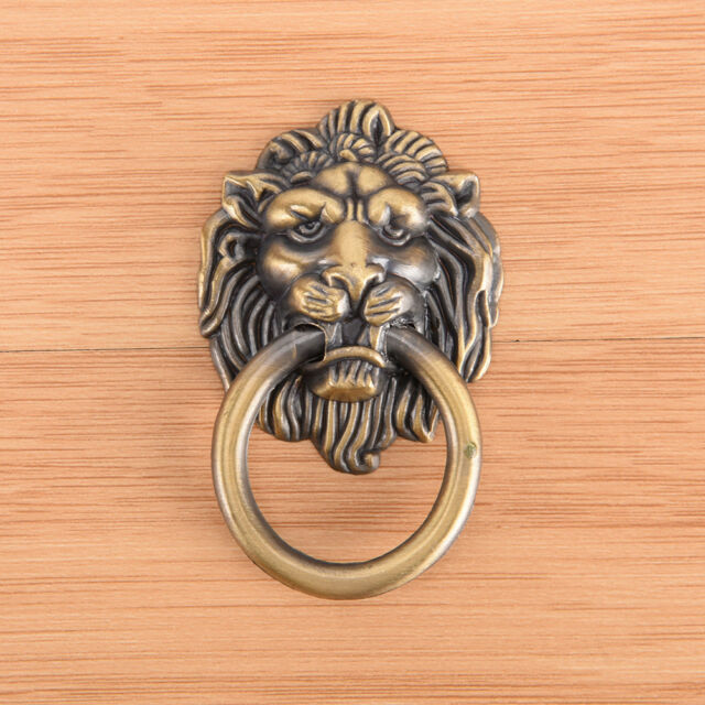 vintage lion head furniture door pull handle knob cabinet dresser drawer riF Jz
