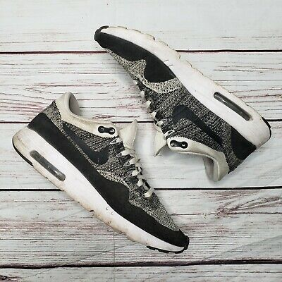 check out 9ae41 32154 Nike Air Max 1 Ultra Flyknit Oreo White Black Sz 12.5 Running Shoes 843384  100 | eBay