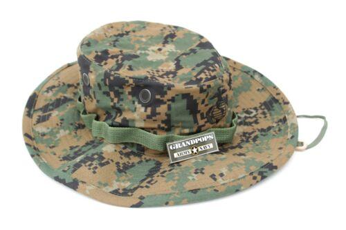 """USMC MARPAT EGA JUNGLE HAT WIDE BRIM 3/"""" MADE IN USA"""