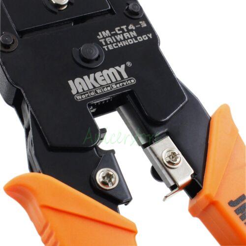Network RJ45 RJ11 RJ12 4P 6P 8P LAN Cable Wire Cutter Crimper Plier Crimping