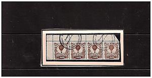 Privatpost-Hamburg-Ballonpostmarke-Hamonia-Nr18-mit-Ober-Seitenrand-4xgestempelt