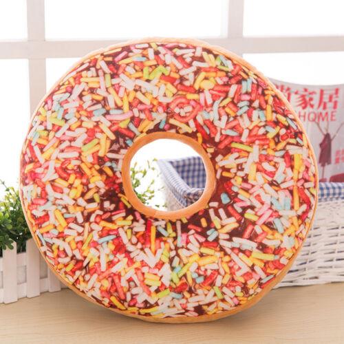 Soft Plush Oreiller En Peluche Siège Pad Sweet Donut Foods Cushion Cover Case
