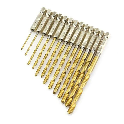 1.5-6.5mm Tungsten Carbide Twist Titanium Drill Bit HSS 1//4 Hex Shank B9B