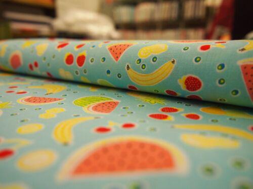 Yummy Fruits Aqua Michael Miller Fabric FQ or More 100/%Cotton
