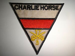 US C Troop 3rd Squadron 17th Cavalry Regiment CHARLIE HORSE Vietnam War Patch