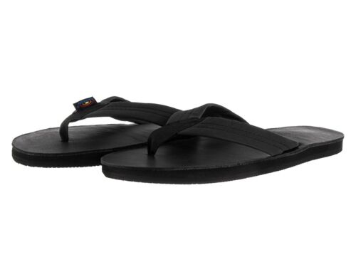 Women Rainbow 301ALTS Leather Black Single Layer Wide Strap 100/% Original New