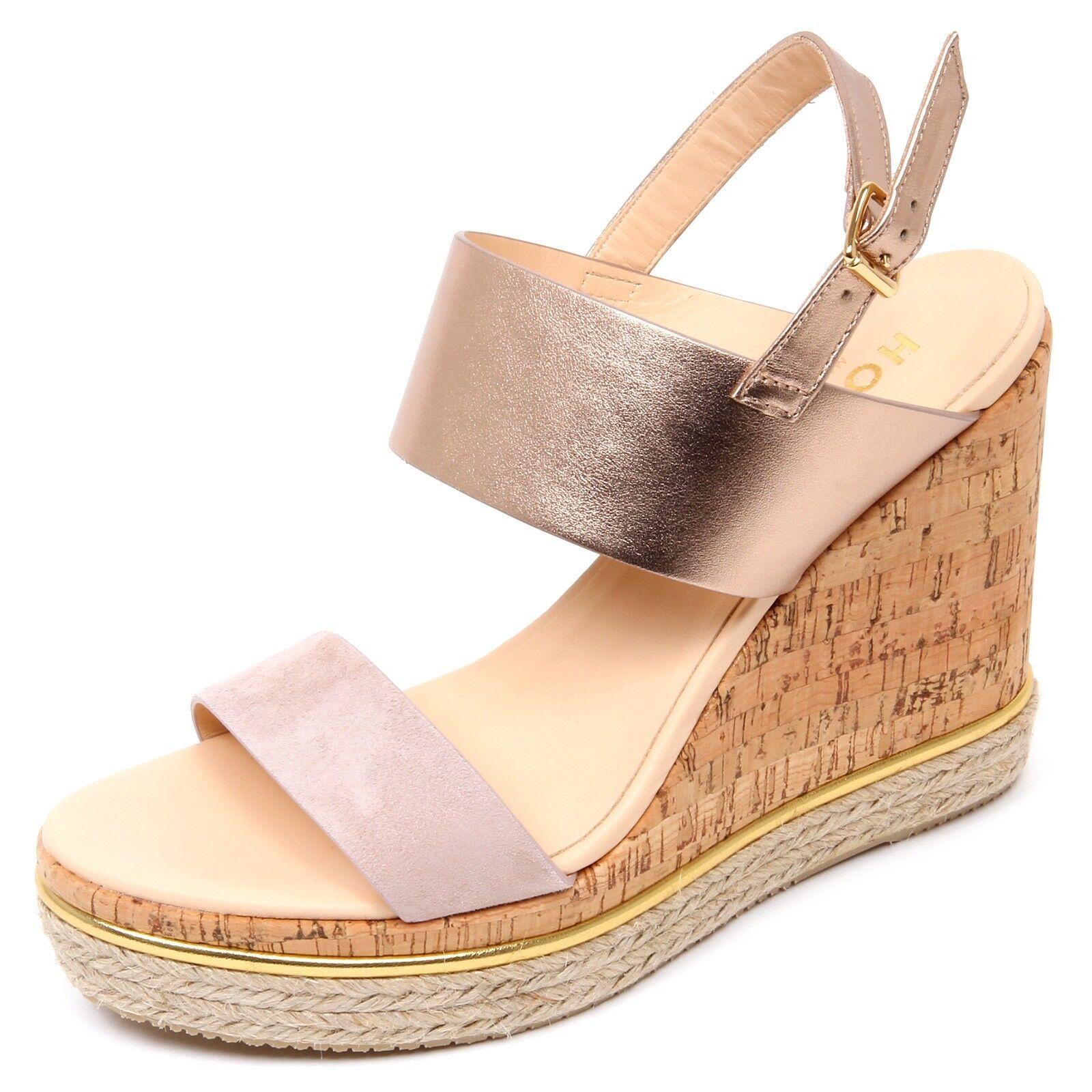 D0336 Sandal Woman Hogan h324 shoes Wedge Cork Pink Pink Platinum shoe woman