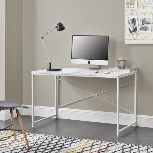 Schreibtisch 120x60x72cm Weiß Bürotisch Computertisch Arbeitstisch en.casa
