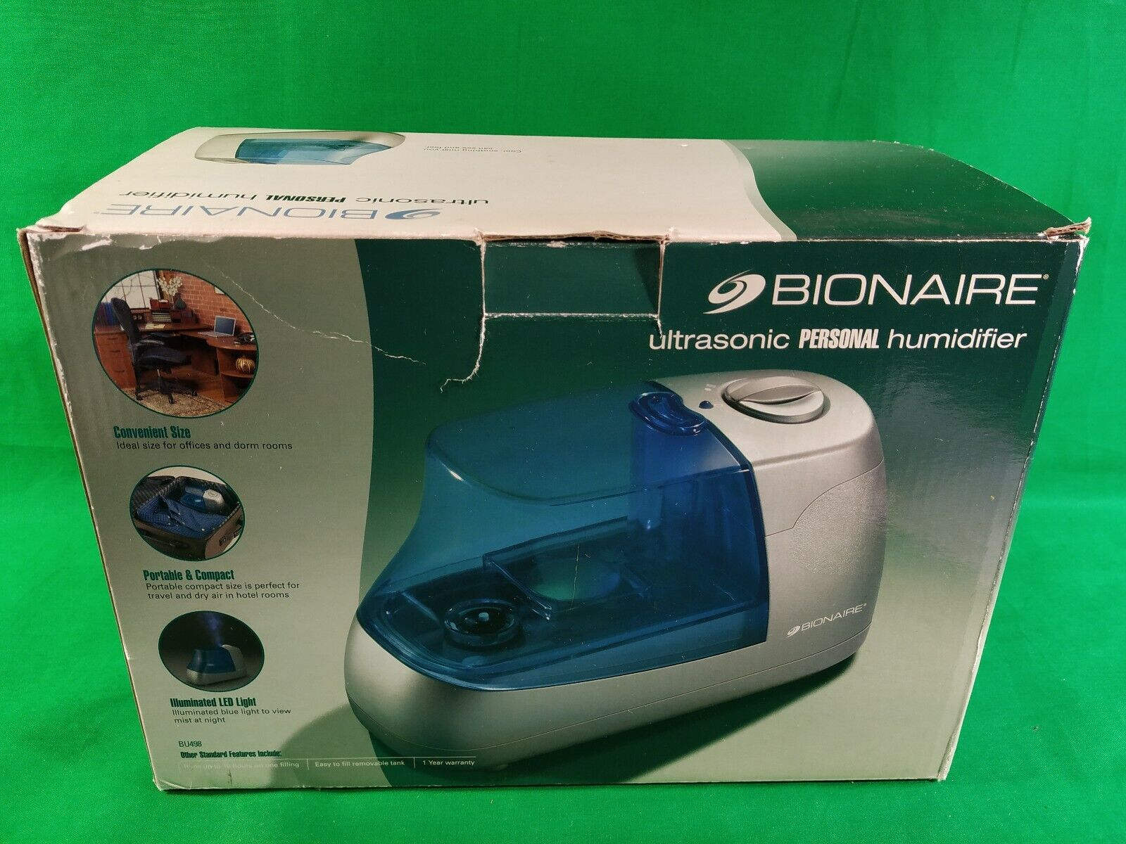 Bionaire Personal Homeoffice Ultrasonic Cool Mist Portable Humidifier BU498
