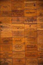 26 Assorted BRANDED WINE PANELS.  CRATE /Box SIDE /End Tops / Wood Diff. Sizes