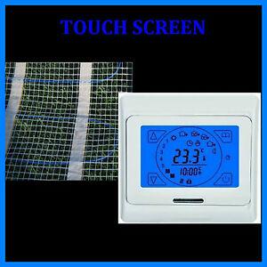 Riscaldamento a Pavimento 20 Qm + Regolatore Touch Screen Hb Blu 91-TS
