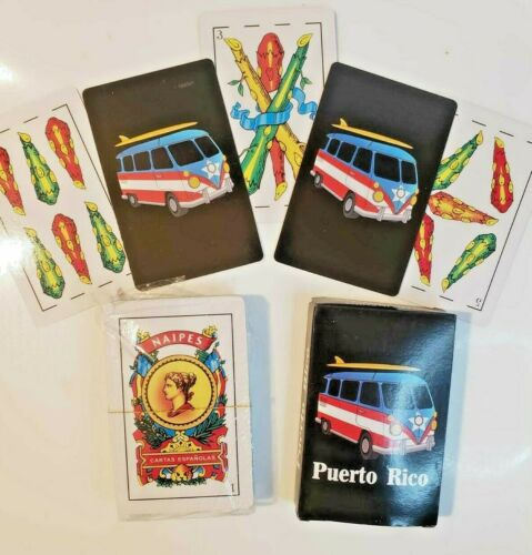 50 CARDS 3 X Puerto Rico Briscas Espanola Naipes Playing Cards LOT OF 3 DECK