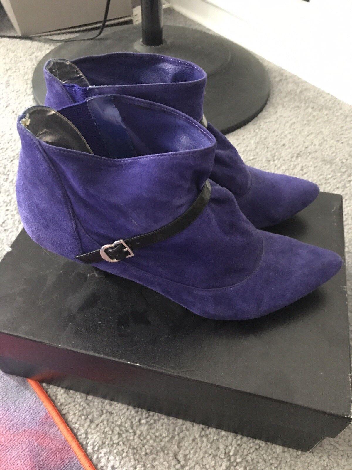 Singerson Morrison for Target Purple Suede Booties