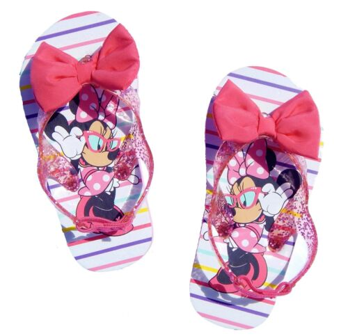 MINNIE MOUSE Girls Flip Flops w//Optional Sunglasses Toddlers Beach Sandals NWT