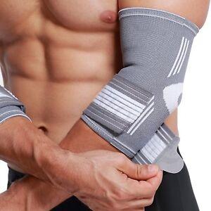 Elbow Brace,Support,Sleeve-Elastic Breath Fabric-Adjustable Compression Strap UK