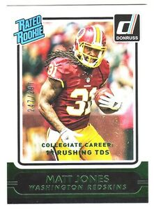 2015-Panini-Donruss-STAT-LINE-CAREER-228-MATT-JONES-RC-Rookie-247-297-Redskins