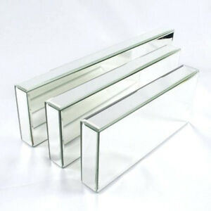 Image Is Loading Mirrored Furniture Gl Floating Shelf Shelves Wall Mounted