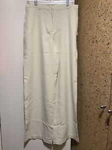 NWT-Women-Tommy-Bahama-Silk-100-Wide-Leg-Full-Length-Chalk-Pants-Size-10