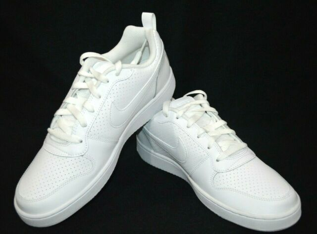 fashion style best sale online retailer Nike Court Borough Low 838937-111 All White Mens US Size 12 UK 11
