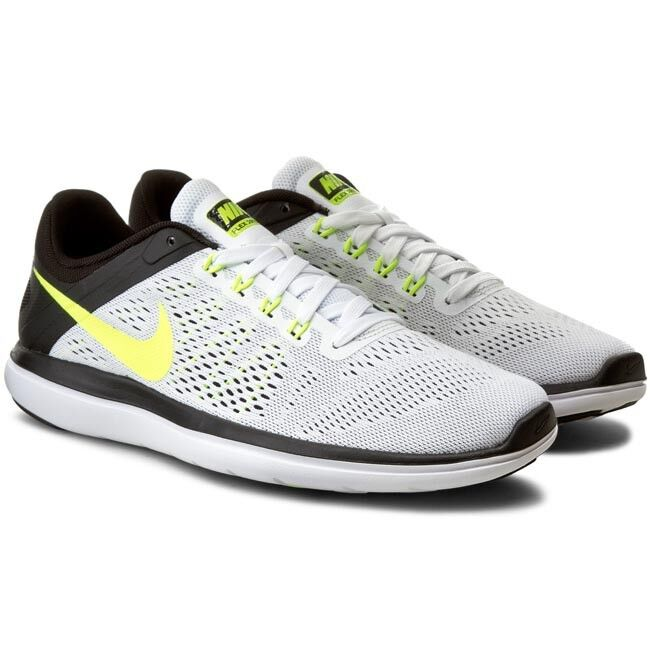 Nike 2016 Men's Flex TR Training Running Shoes White/Black/Volt Sz 12