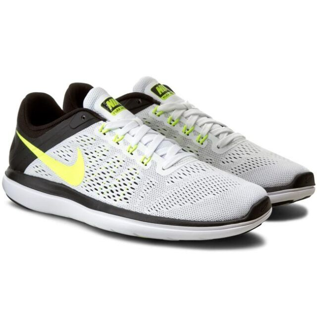 58b514bba6c Men s Nike Flex 2016 RN Size 12 White Volt Black Running Shoes for ...