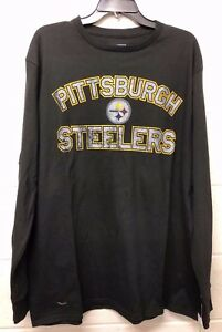 NWT NFL TEEN Girls Pittsburgh Steelers T-shirt Fitted Black Dry Fit