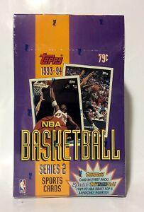 1993-Topps-series-2-NBA-Basketball-24-packs-Card-Box-factory-sealed