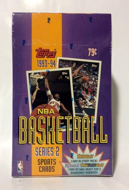1993 Topps series 2 NBA Basketball (24 packs) Card Box factory sealed