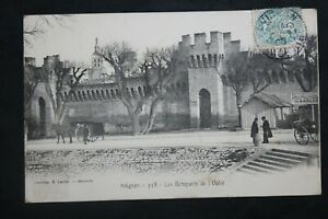 Postcard-Antique-Animated-1905-Avignon-Les-Remparts-of-the-Oulle