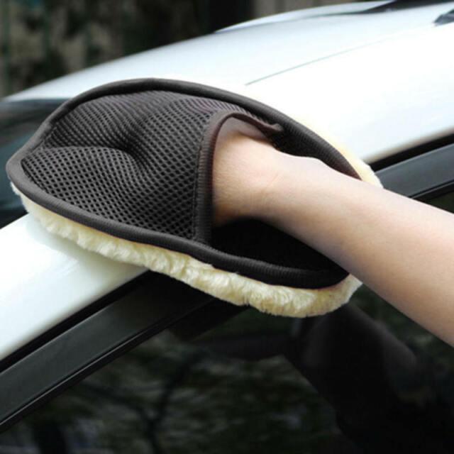 1×Super Soft Lambswool Car Care Wash Mitt Deep Pile Cleaning Glove Washing Glove