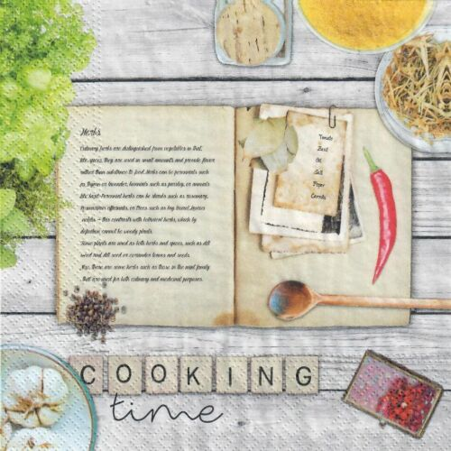 libro Cocina Cocina 4 Solo Papel Decoupage Servilletas 127 hierbas Diseño