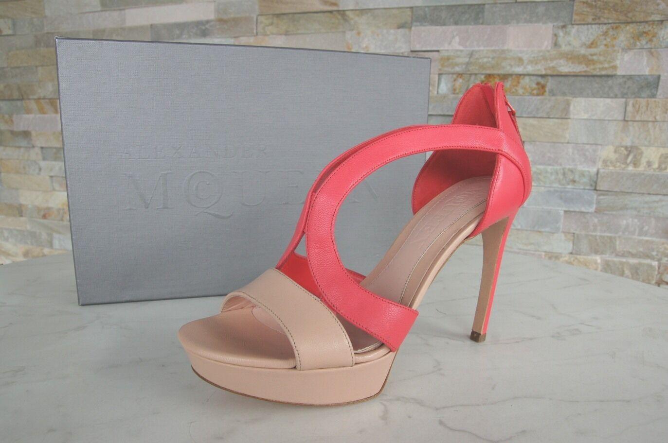 Alexander McQueen Platform Sandals Heels scarpe Geranium NUOVO   liquidazione fino al 70%