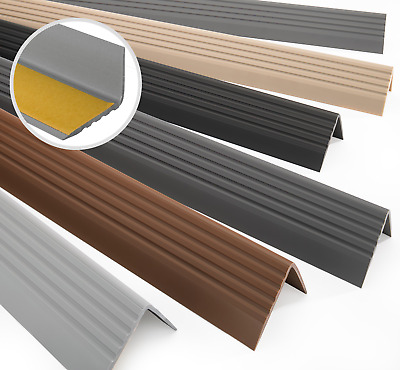 bande de bordure Nez de marche profil d/'angle PVC autoadh/ésif 41x25mm antid/érapant descalier-protection 200cm Laiton