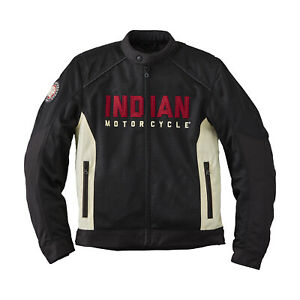 Indian Motorcycle Men's Mesh Lightweight 2 Riding Jacket with Removable Liner