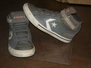 Details zu Converse Chucks Gr.35 Leder grau cool Knöchelschuh