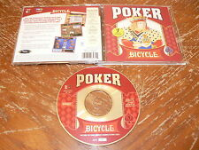 Bicycle Poker PC CD-ROM Expert Software Gunnar Games for Windows 95/98