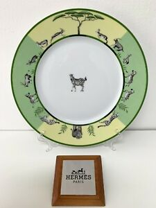 Hermes-Africa-Vert-Assiette-Plate-Hermes-Africa-Vert-Plat-Zebre-Hermes