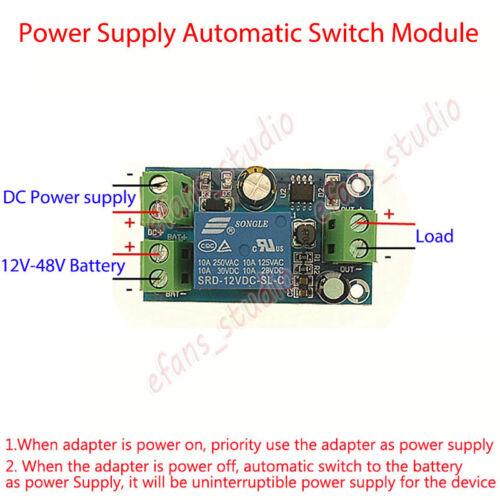 Alimentation 12V-48V désactiver automatique batterie contrôleur d/'alimentation Module de commutation