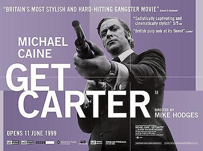 GET CARTER VINTAGE MOVIE POSTER  FILM A4 A3 ART PRINT CINEMA