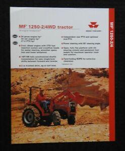 "1996 MASSEY-FERGUSON ""MF 1250 2 & 4WD TRACTOR"" SPECIFICATIONS BROCHURE NICE"
