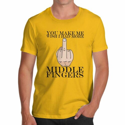Funny T-shirts for men Sarcasm I Wish had More Middle Fingers Men/'s T-Shirt
