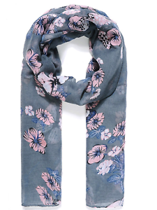 Blue Butterfly Scarf Shawl scarves throw Wrap present gift free shopping bag
